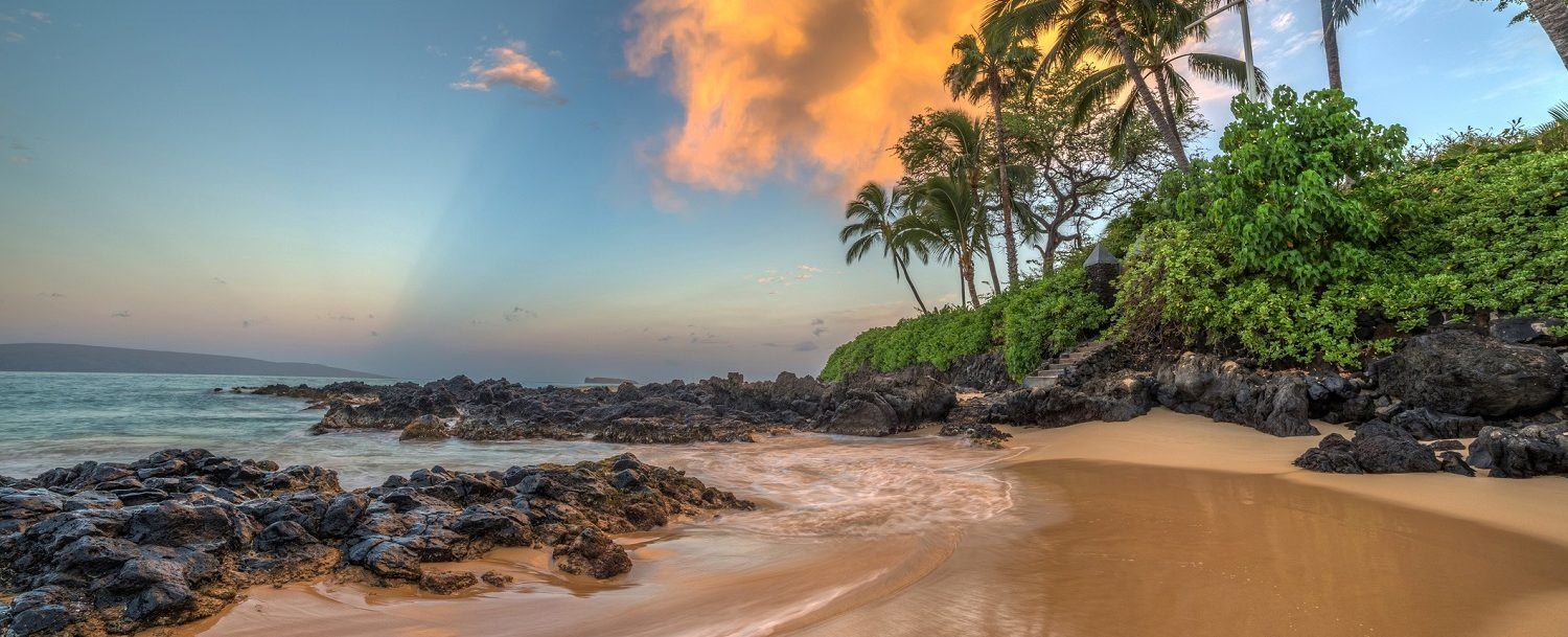 Secret cove at one of the best Maui beaches