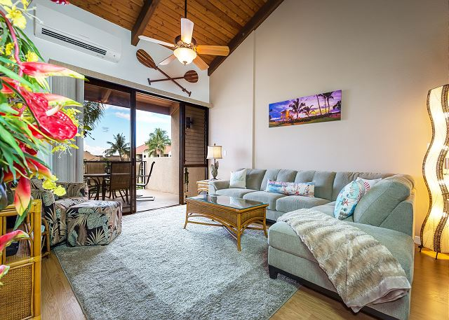 View of a PMI Maui Rental - living room view
