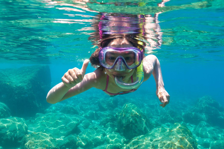 exploring underwater maui snorkeling