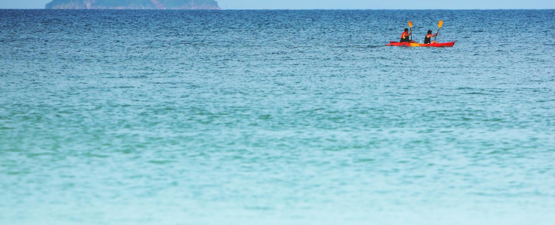 Group kayaking with Maui Eco Tours