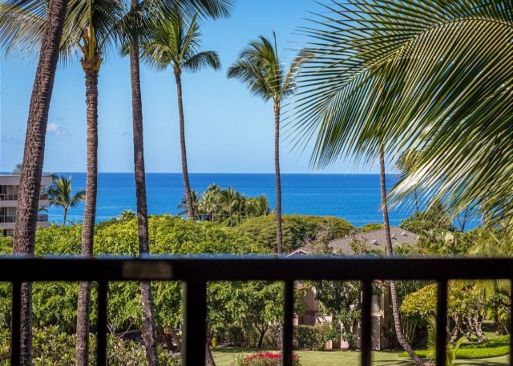 View from the balcony of a PMI Maui rental
