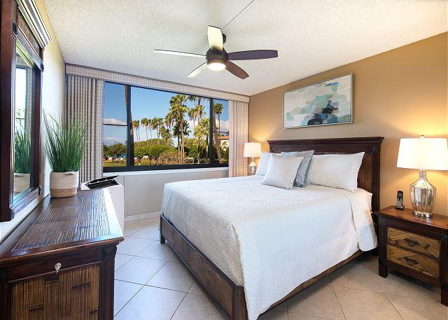 view of the bedroom in Kamaole Sands 10-215